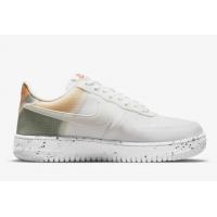Кроссовки Nike Air Force 1 Crater белые с оранжевым