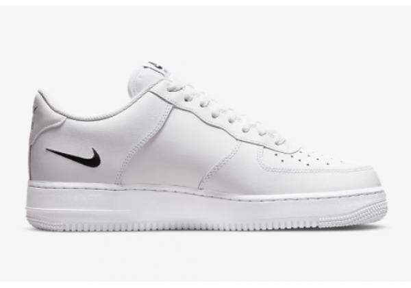 Кроссовки Nike Air Force 1 белые с логотипом