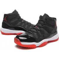 Кроссовки Nike Air Jordan 11 Retro черные с красным