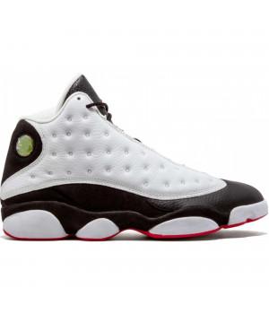Кроссовки Nike Air Jordan 13 Retro белые с черным