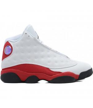 Кроссовки Nike Air Jordan 13 Retro белые с красным