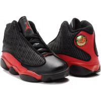 Кроссовки Nike Air Jordan 13 Retro красные с черным