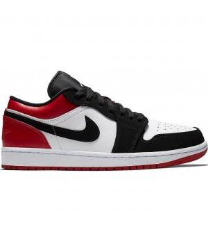 Кроссовки Nike Air Jordan 1 Low белые с красным