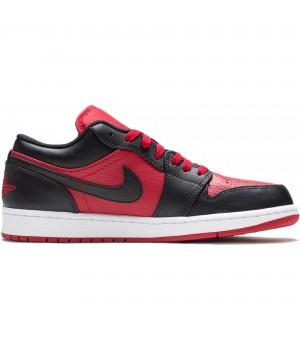 Кроссовки Nike Air Jordan 1 Low черно-красные