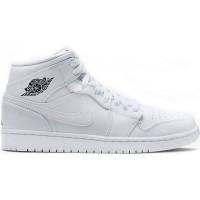 Кроссовки Nike Air Jordan 1 Retro моно белые