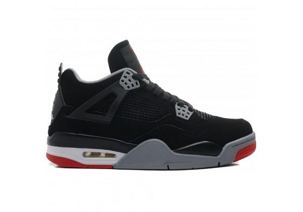 Кроссовки Nike Air Jordan 4 черный с серым