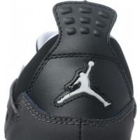 Кроссовки Nike Air Jordan 4 Retro серый с черным