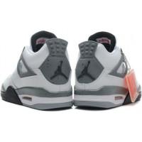 Кроссовки Nike Air Jordan 4 серый с белым