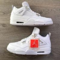 Кроссовки Nike Air Jordan 4 моно белые