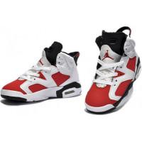 Кроссовки Nike Air Jordan 6 белые с красным