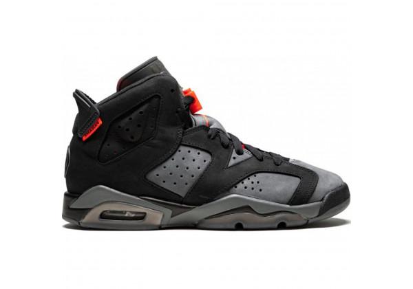 Кроссовки Nike Air Jordan 6 Retro черные с серым