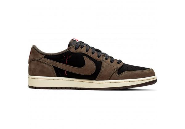 Кроссовки Nike Air Jordan 1 Low Retro коричневые с черным