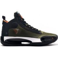 Кроссовки Nike Air Jordan XXXIV PF зеленые
