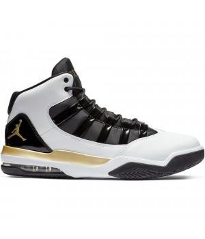 Кроссовки Nike Air Jordan Max Aura белые с золотым