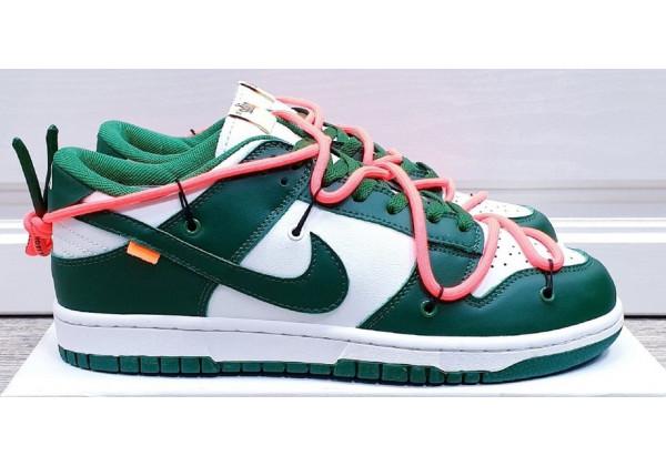 Кроссовки Nike зелено-белые