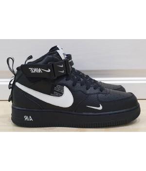 Кроссовки Nike Air Force черные с белым