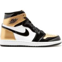 Nike Air Jordan 1 Retro Gold золотые с черным