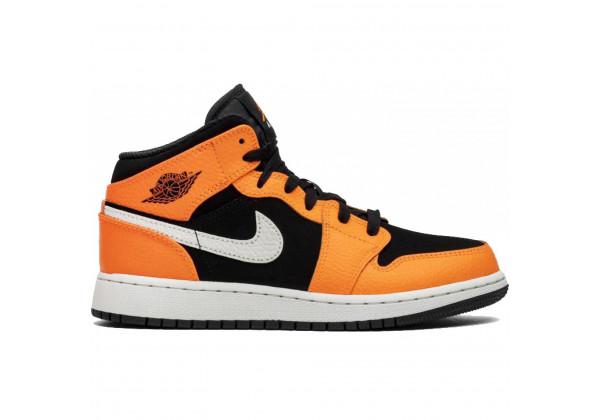 Nike Air Jordan 1 Retro Black/Orange черно-оранжевые