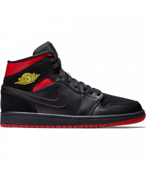 Nike Air Jordan 1 Retro Black/Red черные с красным