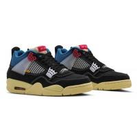 Кроссовки Nike Air Jordan 4 Retro Union SP 'Off-Noir' черные