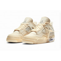 Кроссовки Nike Air Jordan 4 Retro Off-White бежевые