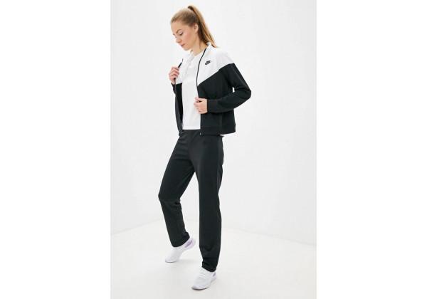 Костюм спортивный женский Nike Sportswear Women's Tracksuit черно-белый