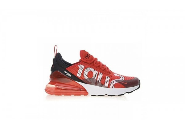 Кроссовки AIR MAX 270 X SUPREME RED BLACK WHITE