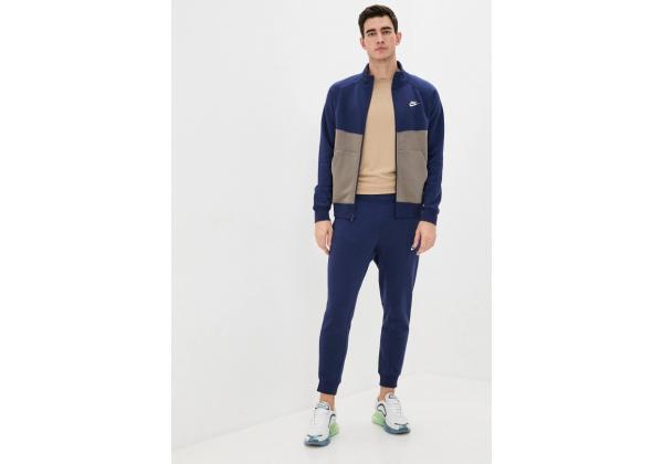 Костюм спортивный мужской Nike синий с коричневым