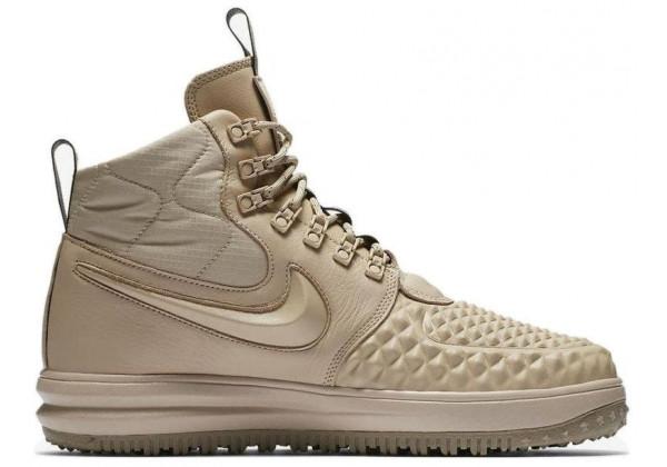 Кроссовки зимние Nike Air Force 1 с МЕХОМ Lunar Duckboot Beige бежевые