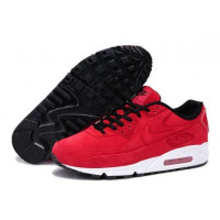 Кроссовки зимние Nike Air Max 90 VT с мехом красные