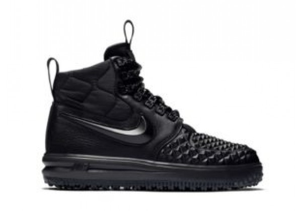 Кроссовки зимние Nike Air Force 1 с МЕХОМ Lunar Duckboot черные