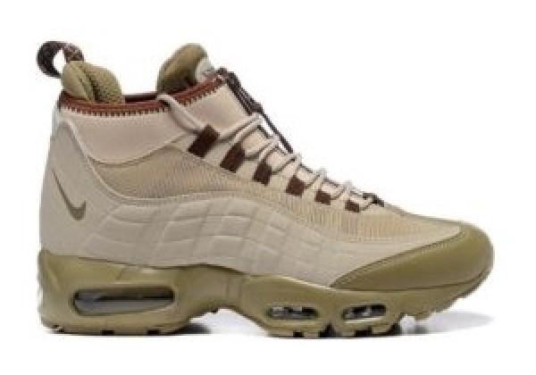 Кроссовки зимние Nike Air Max 95 Sneakerboot коричневые