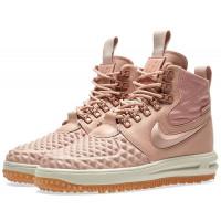 Кроссовки зимние Nike Air Force 1 с МЕХОМ Lunar Duckboot розовые