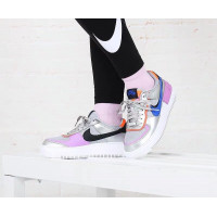 Кроссовки Nike Air Force 1 серебристые с фиолетовым