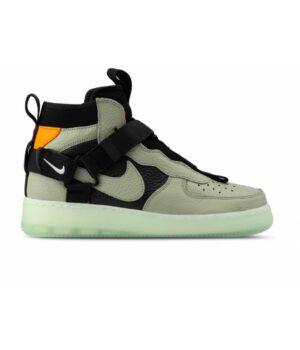 Кроссовки зимние Nike Air Force 1 Utility Mid серые/чёрные