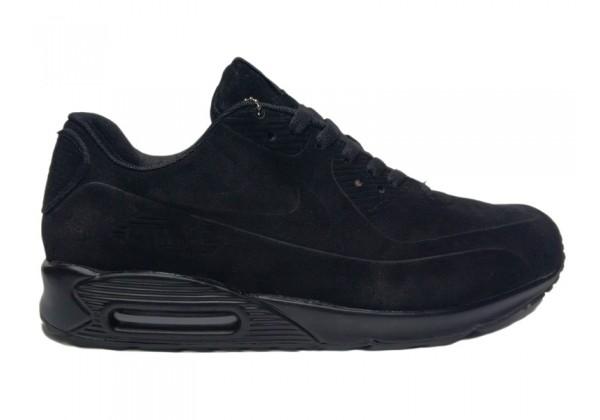 Кроссовки зимние Nike Air Max 90 на меху черные
