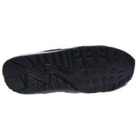 Кроссовки зимние Nike Air Max 90 на меху темно-синие с белым