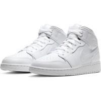 Кроссовки зимние Nike Air Jordan 1 Retro High с мехом белые