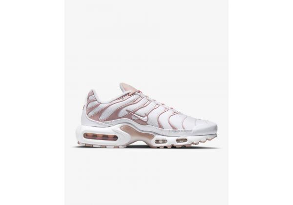 Кроссовки Nike Air Max Plus белые с розовым