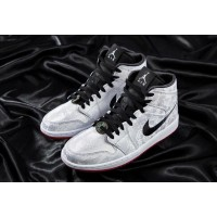 Nike Air Jordan 1 (Найк Джордан 1) серые с черным