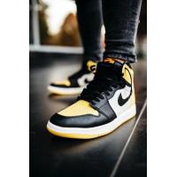 Nike кроссовки Air Jordan 1 Retro Low Yellow/Black