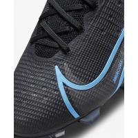 Кроссовки Nike Mercurial Vapor 14 Elite FG черные с синим