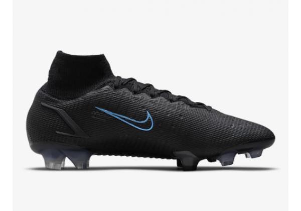 Кроссовки Nike Mercurial Superfly 8 Elite FG черные с синим