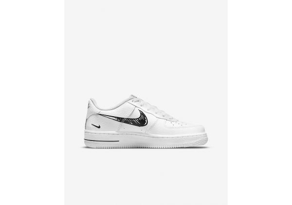 Nike кроссовки Air Force 1 с нарисованным свушем белые