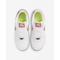 Nike кроссовки Air Force 1 07 SE белые с красным