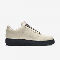 Nike кроссовки Air Force 1 By You с черной подошвой бежевые