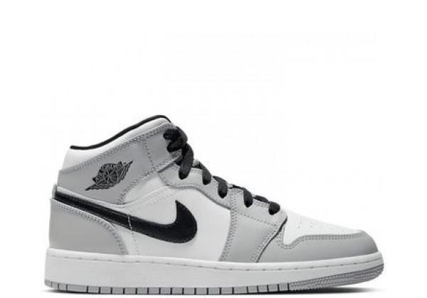 Nike Air Jordan 1 (Найк Джордан) серо-белый