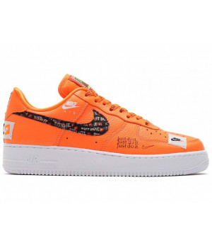 NIKE КРОССОВКИ AIR FORCE 1 JUST DO IT ORANGE