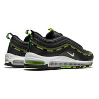 Кроссовки Nike Air Max 97 черные с зеленым