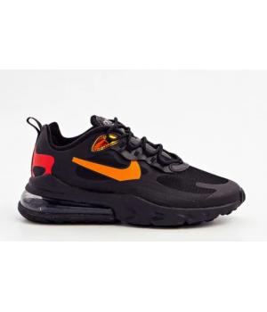 Кроссовки Nike Air Max 270 React черные с оранжевым